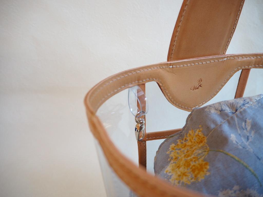 《ナチュラルなヌメ革と透明PVCを使ったバッグ》Part0♪_f0340942_23203985.jpg