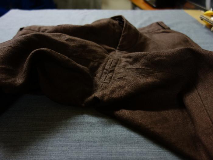 1月の製作 / classic linen jodhpurs_e0130546_13264986.jpg