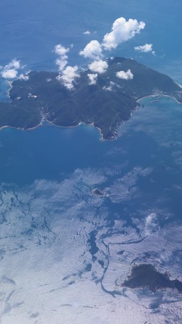 神戸から鹿児島へ瀬戸内海の美しさ、青島の絶景、桜島の雄大さ・・・飛行機からの絶景の旅_d0181492_07193516.jpg