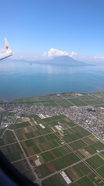 神戸から鹿児島へ瀬戸内海の美しさ、青島の絶景、桜島の雄大さ・・・飛行機からの絶景の旅_d0181492_07222859.jpg