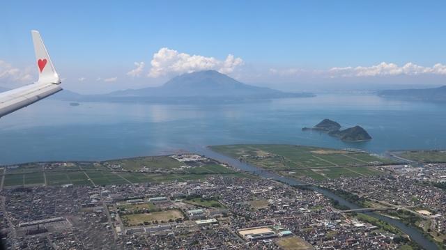 神戸から鹿児島へ瀬戸内海の美しさ、青島の絶景、桜島の雄大さ・・・飛行機からの絶景の旅_d0181492_07224232.jpg