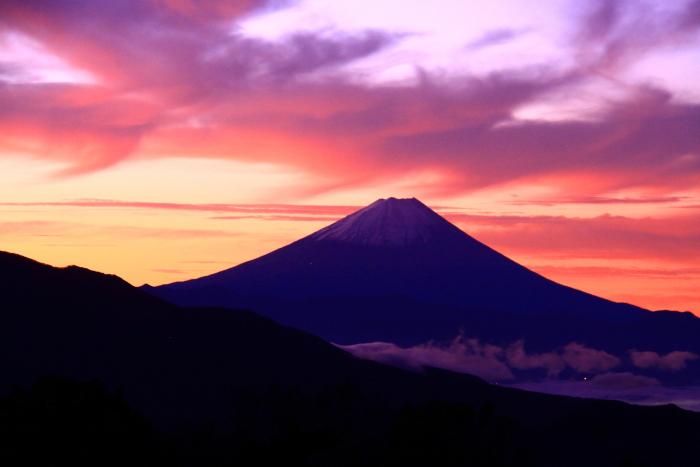 令和元年10月の富士(27)清里高原夜明けの富士_e0344396_16105943.jpg