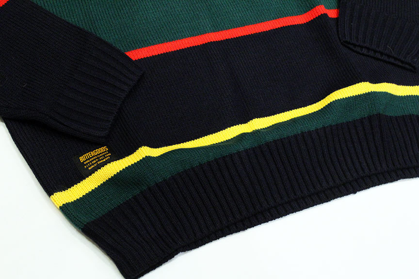 "BUTTER GOODS (バターグッズ) "" STRIPE KNITTED SWEATER \""_b0122806_15172520.jpg"