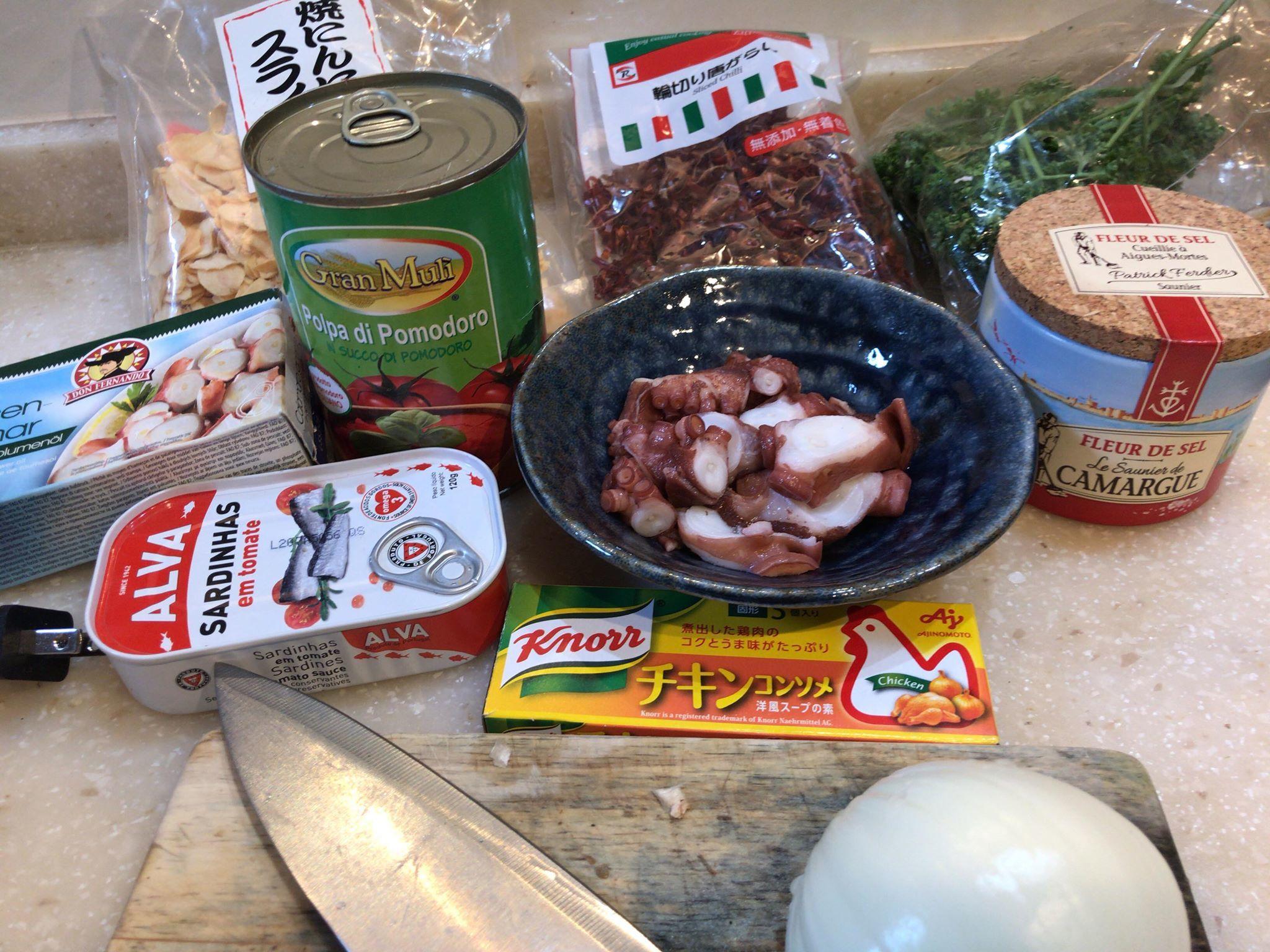 /// 今日のおばんざい・朝野家館主の簡単レシピ『タコのトマト煮』 ///_f0112434_15501914.jpg