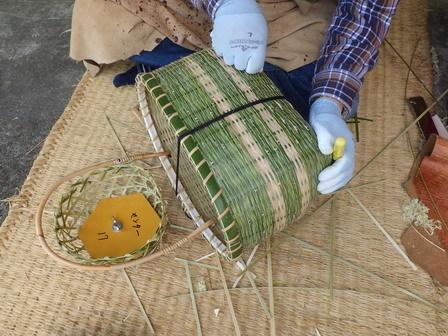 竹かご教室-4日目最終日_a0123836_16583044.jpg