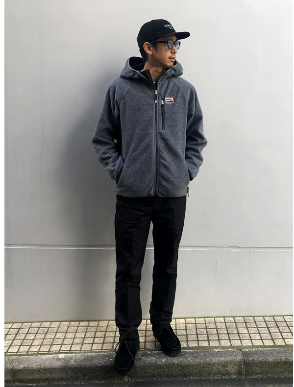 【DELIVERY】 STANDARD CALIFORNIA - Reversible Stretch Fleece Jacket / DLS L3_a0076701_12241281.jpg