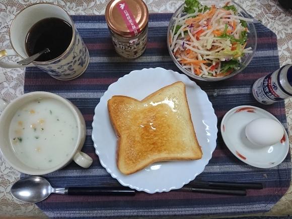 11/5 アカシアの蜂蜜トースト & フジッコ カスピ海ヨーグルト脂肪0_b0042308_09062251.jpg