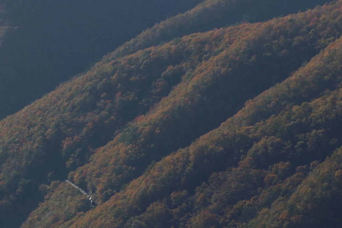 紅葉の山々の陰影 - 2019年紅葉・釜石線 -_b0190710_22051288.jpg