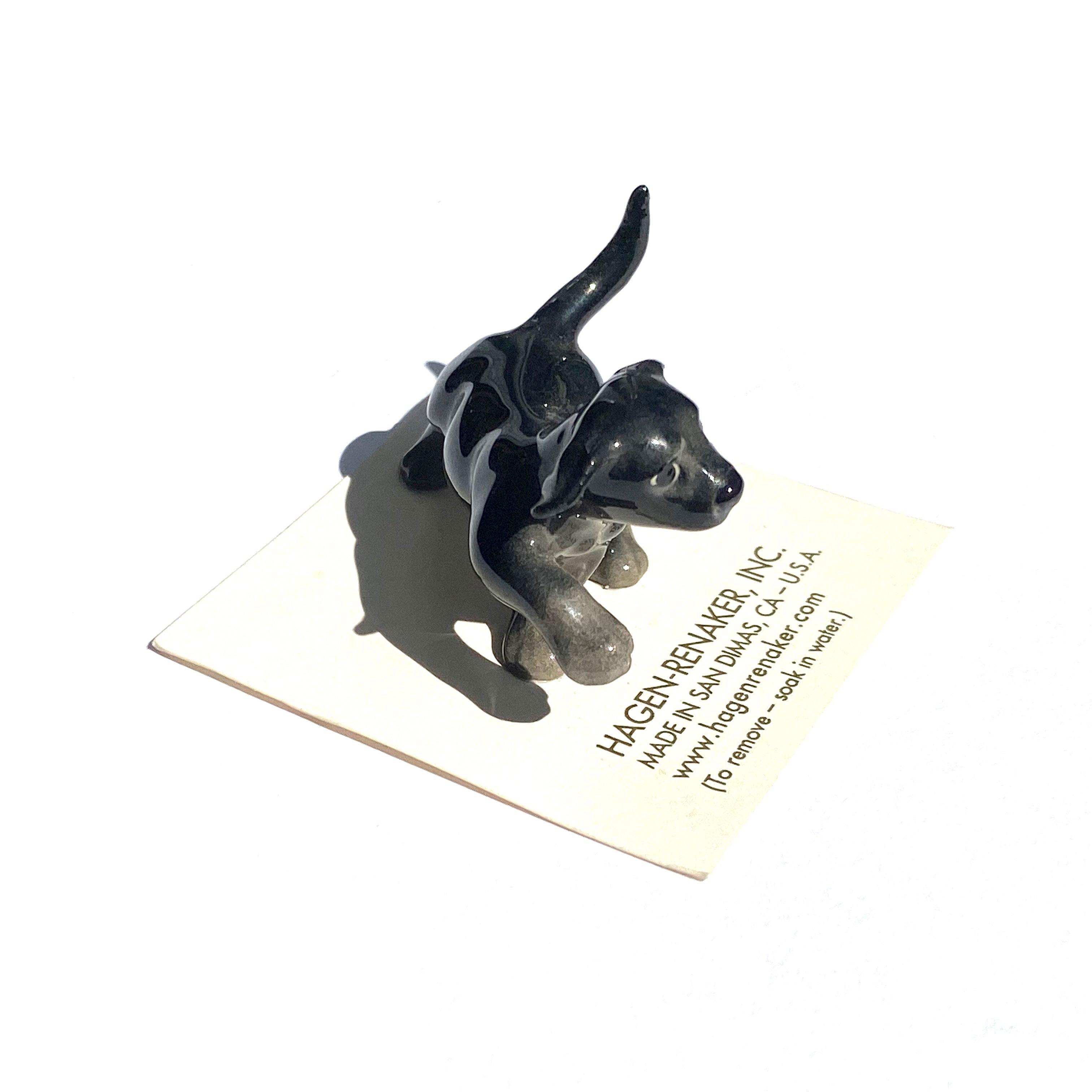 Hagen Renaker Labrador PUP BLACK  ヘイゲンリネカー ラブラドール パップ ブラック_d0217958_12270491.jpg