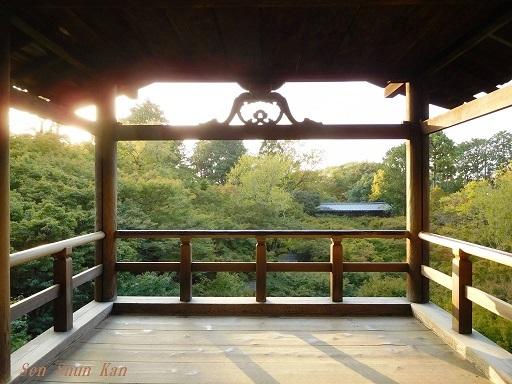 東福寺のもみじは、まだ緑    2019年11月1日_a0164068_16511935.jpg