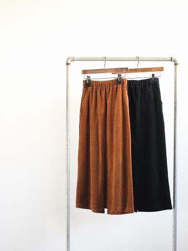 unfil cotton velvet jersey midi skirt_b0139281_16315547.jpg