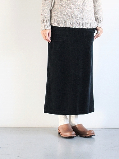 unfil cotton velvet jersey midi skirt_b0139281_16323380.jpg