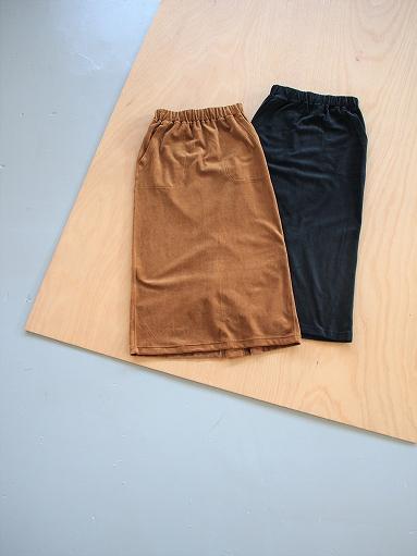 unfil cotton velvet jersey midi skirt_b0139281_16325461.jpg
