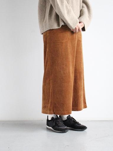 unfil cotton velvet jersey midi skirt_b0139281_16332832.jpg