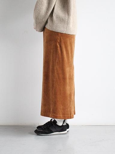 unfil cotton velvet jersey midi skirt_b0139281_16333787.jpg