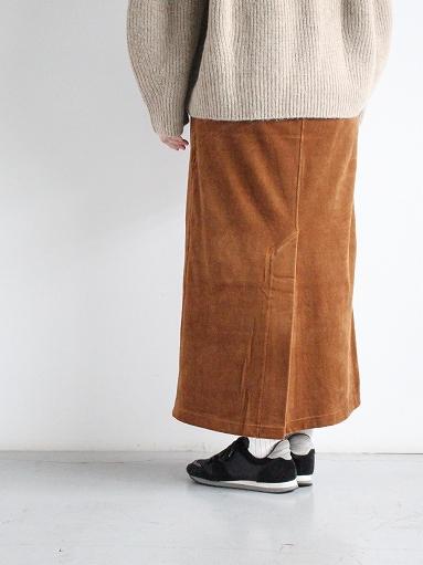 unfil cotton velvet jersey midi skirt_b0139281_16334627.jpg
