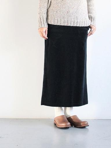 unfil cotton velvet jersey midi skirt_b0139281_16341492.jpg