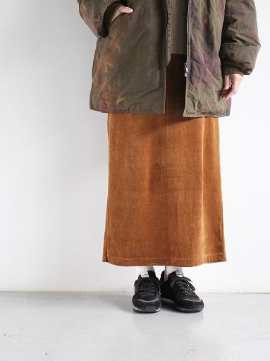 unfil cotton velvet jersey midi skirt_b0139281_163428.jpg