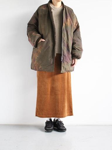 unfil cotton velvet jersey midi skirt_b0139281_16345476.jpg