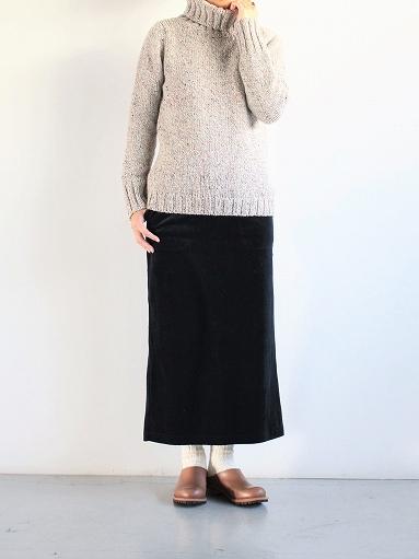 unfil cotton velvet jersey midi skirt_b0139281_1635690.jpg