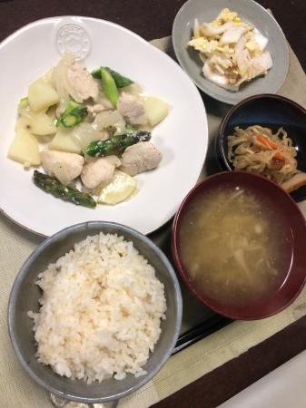 鶏肉とアスパラの炒め物_d0235108_21461101.jpg