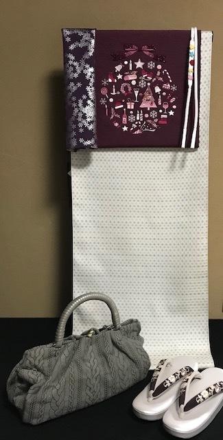 商品紹介・スワロフスキー・パール・刺繍Xmas名古屋帯。_f0181251_18113442.jpg