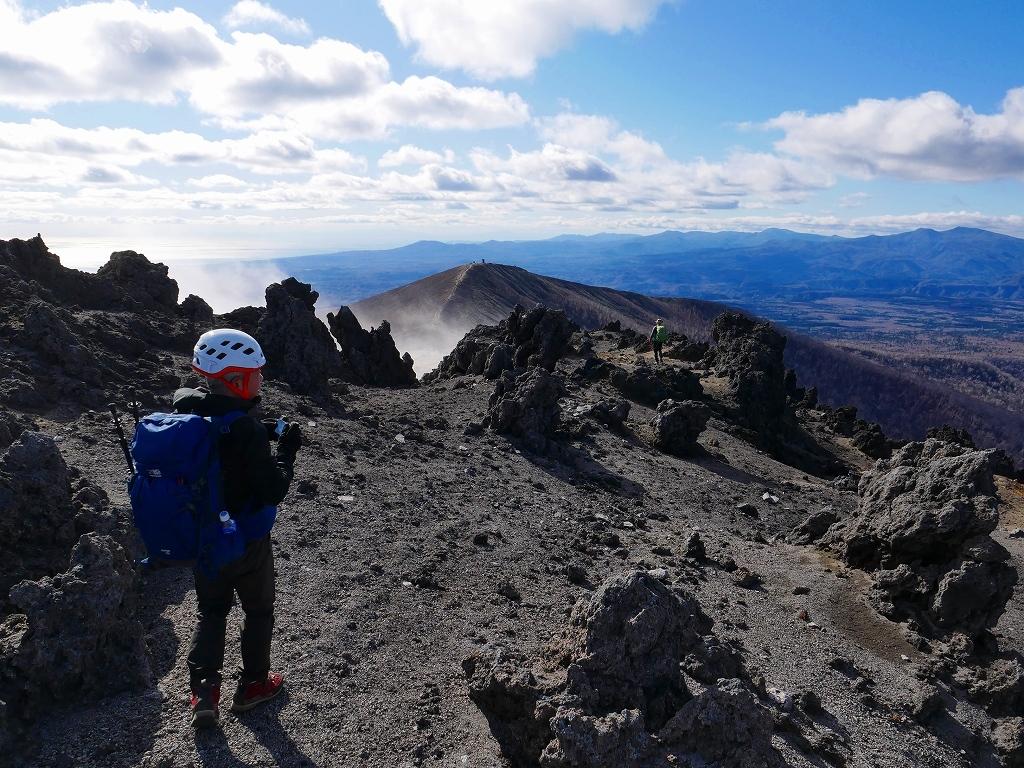 樽前山の最高点へ、2019.11.5ーその2ー_f0138096_17523333.jpg