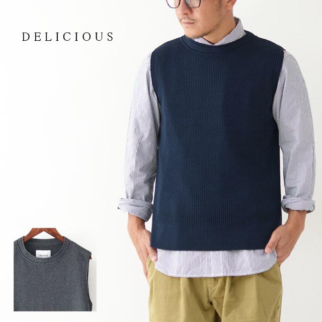 DELICIOUS [デリシャス] Cotton Knit Vest [DN3635] コットンニットベスト・クルーネック・五泉ニット・コットンニット・MEN\'S_f0051306_11552747.jpg