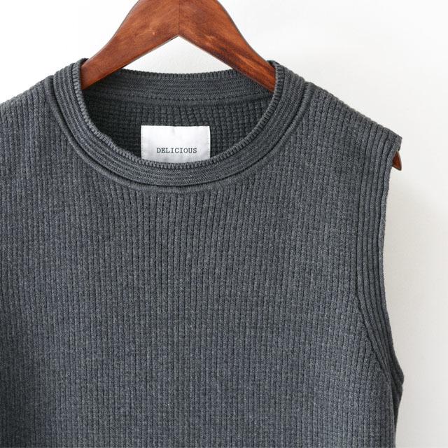 DELICIOUS [デリシャス] Cotton Knit Vest [DN3635] コットンニットベスト・クルーネック・五泉ニット・コットンニット・MEN\'S_f0051306_11552830.jpg