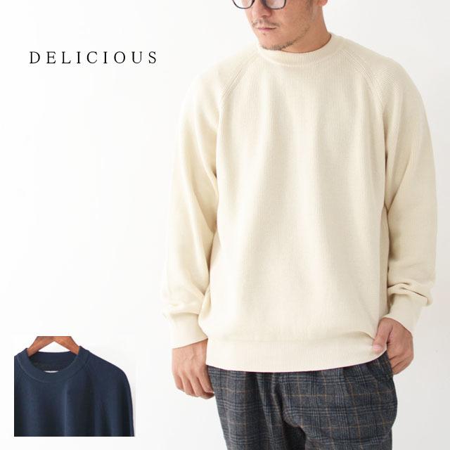 DELICIOUS [デリシャス] Cotton Crew Sweater [DN4335] コットンクルーセーター・五泉ニット・コットンニット・ミリタリーニット・MEN\'S_f0051306_12071183.jpg