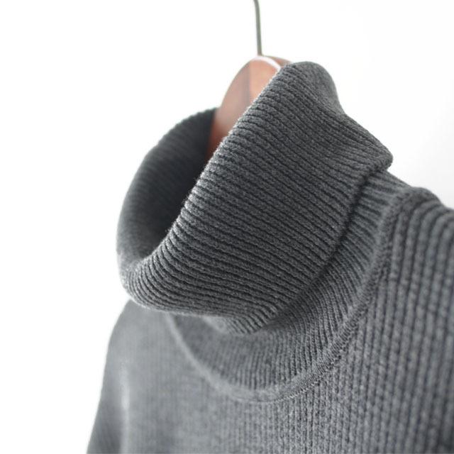 DELICIOUS [デリシャス] Cotton Turtleneck Sweater [DN4135] コットンタートルネックセーター・コットンニット・五泉ニットMEN\'S_f0051306_13434649.jpg