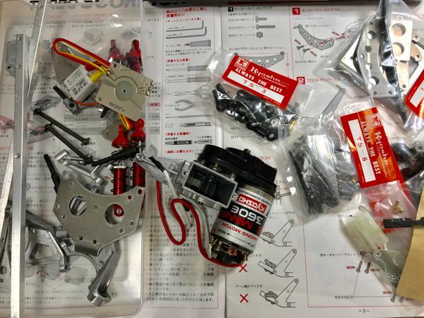 京商ターボスコーピオン組み立て シャシー_c0207113_15424147.jpg