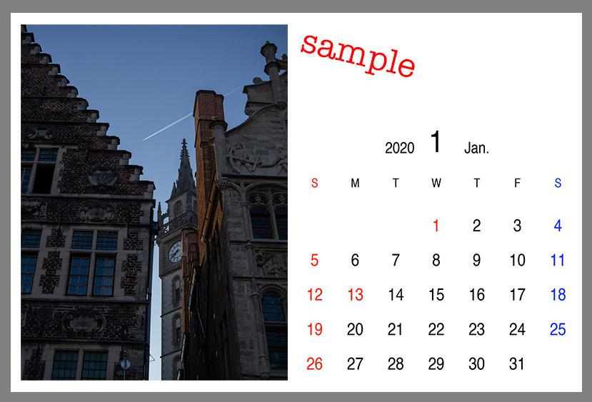 2020年カレンダー作成中_a0003650_22190513.jpg