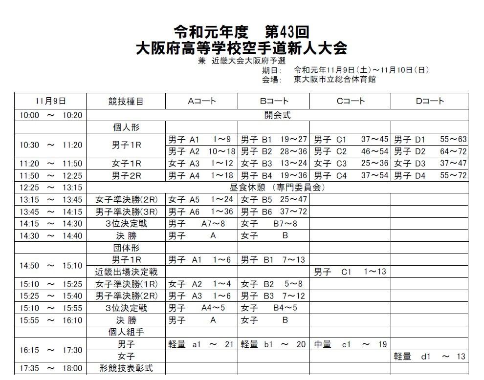 大阪府高校新人大会 9・10日に開催_e0238098_12311811.jpg