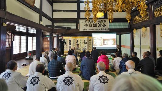 4日には「山門天井画・板壁画修復」講演会が開催されました_c0336902_19031724.jpg
