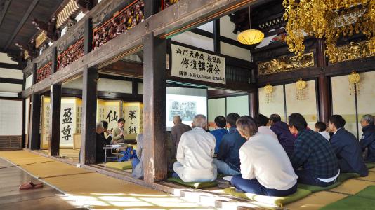 4日には「山門天井画・板壁画修復」講演会が開催されました_c0336902_19032042.jpg
