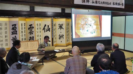 4日には「山門天井画・板壁画修復」講演会が開催されました_c0336902_19032457.jpg