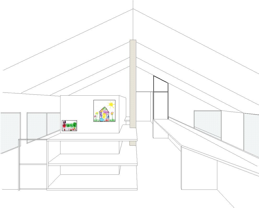 小屋裏感のある2階共用ゾーン_b0183404_17342004.jpg