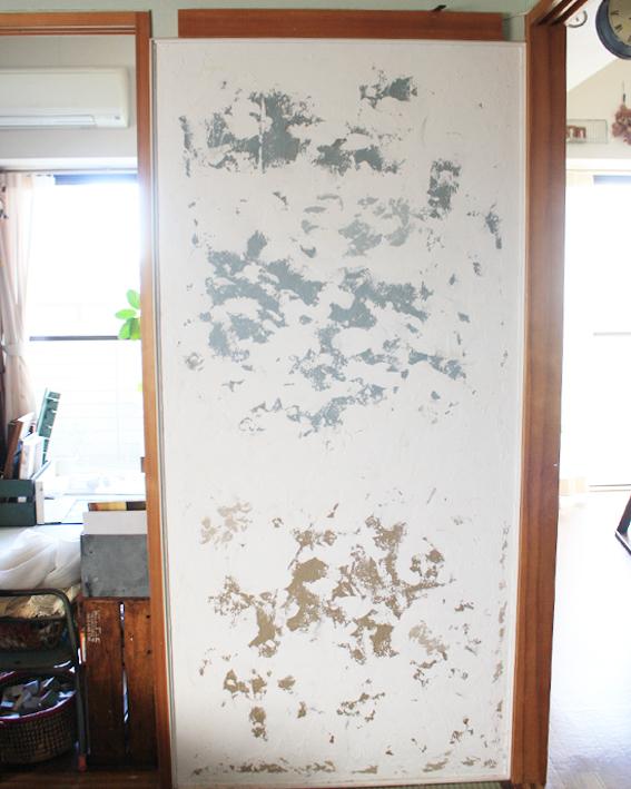 賃貸壁の可能性☆和室の壁をDIYペイント「ブックカフェ風」_d0351435_15421039.jpg