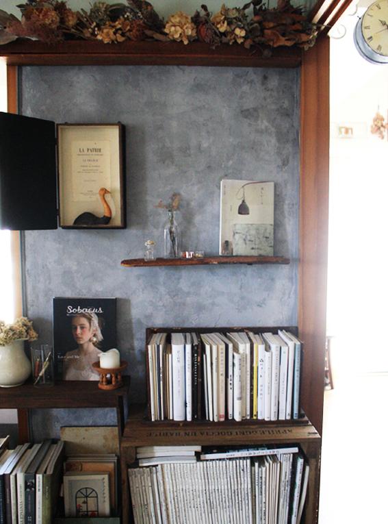 賃貸壁の可能性☆和室の壁をDIYペイント「ブックカフェ風」_d0351435_16365718.jpg