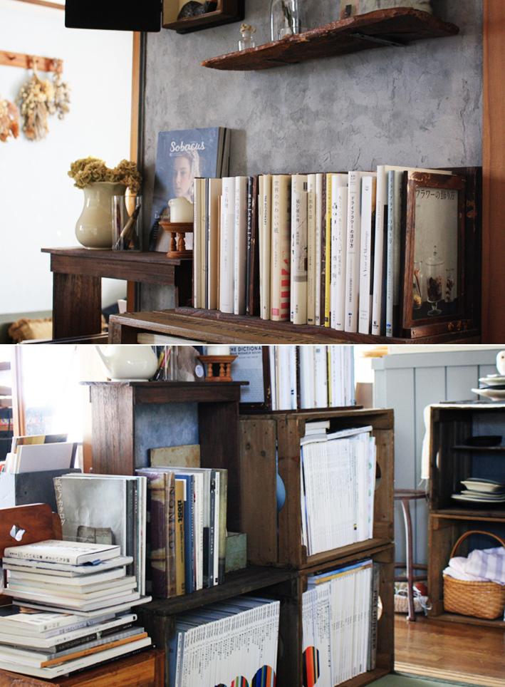 賃貸壁の可能性☆和室の壁をDIYペイント「ブックカフェ風」_d0351435_16385912.jpg
