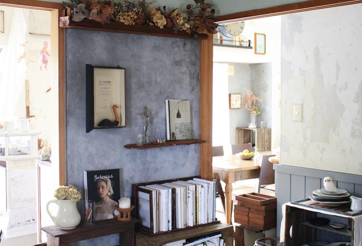 賃貸壁の可能性☆和室の壁をDIYペイント「ブックカフェ風」_d0351435_16402196.jpg