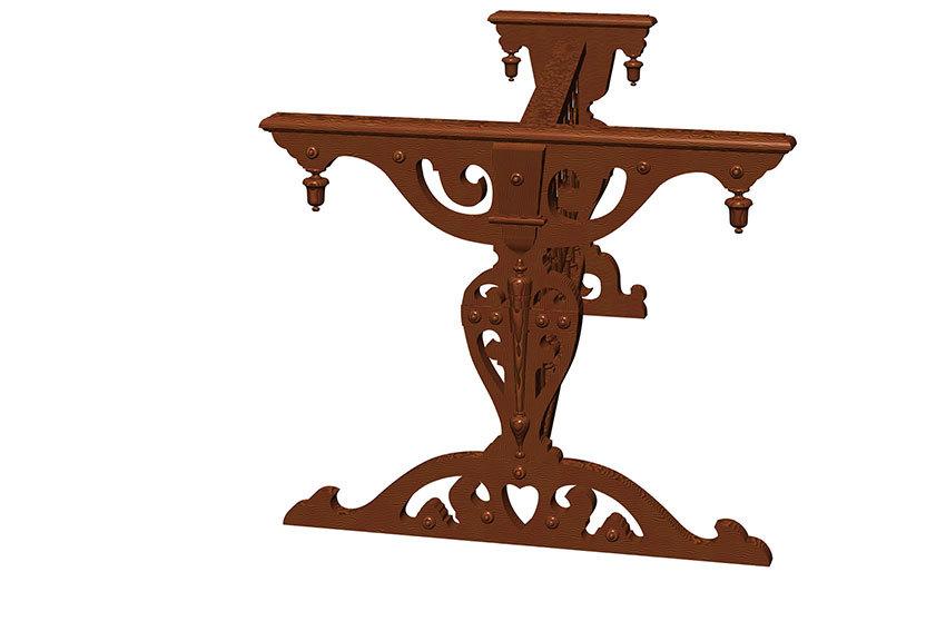 ルッカース・チェンバロの装飾スタンド#1_e0064847_22402578.jpg