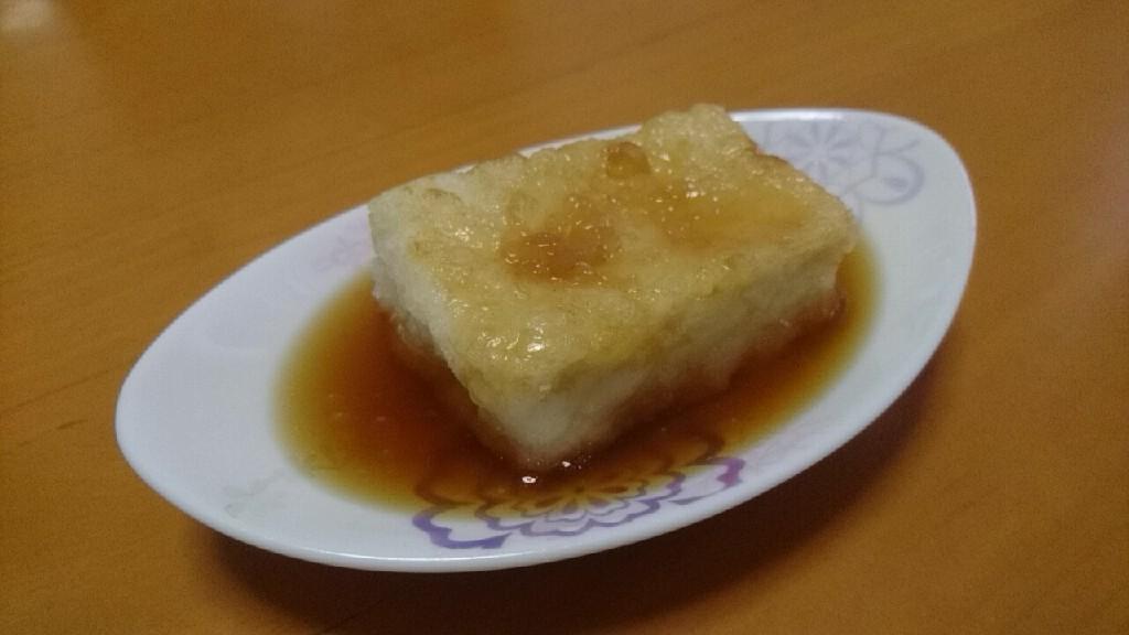 揚げ出し豆腐を手作りしてみました。美味い!_b0106766_19415223.jpg