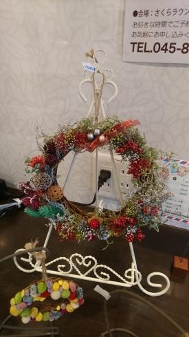 クリスマスリース制作教室開催_e0190287_16182799.jpg