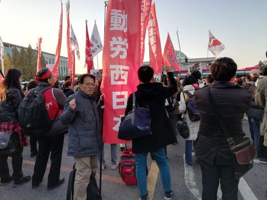 11月9日、ソウル市内でおこなわれた、韓国・民主労総全国労働者大会に参加しました_d0155415_11591227.jpg