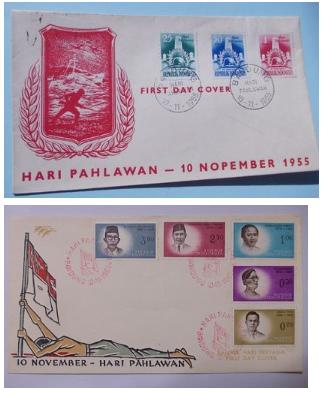 11月10日は 「国家英雄の日」インドネシアの切手・初日カバ(1955/1961/1962) _a0054926_22530682.jpg