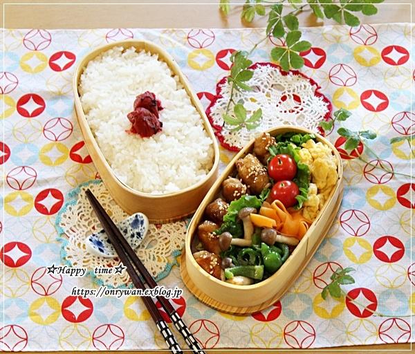 豚肉照り焼き弁当と作りおきとバスチー♪_f0348032_16495993.jpg
