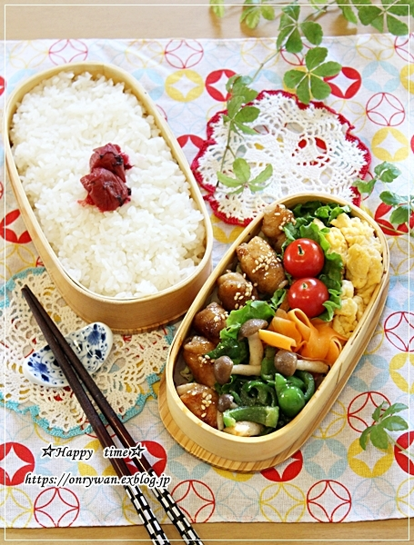 豚肉照り焼き弁当と作りおきとバスチー♪_f0348032_16500641.jpg