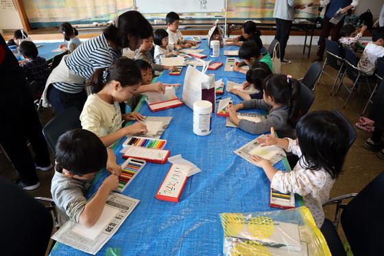やと子ども美術教室 ~ 秋色で遊ぼう ~ _e0222340_14141557.jpg